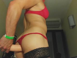 Shemale dildo anal play