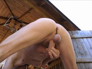 jerking session with bondage dick showing my ass during cumshot