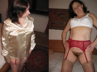 Sandra clothed - unclothed