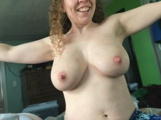 Her big boobs yesterday