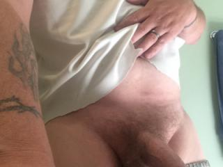 Cock in hand