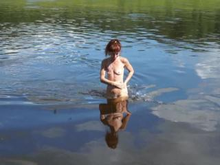 Nude Swimming in Volga-river