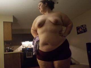 Slutty fat white bitch