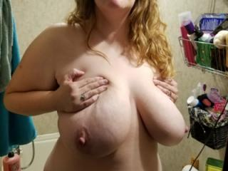 Bbw huge tit wife