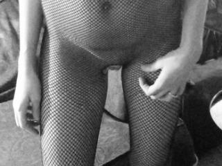 new fishnet crotchless body suit