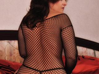 Posing in mesh top