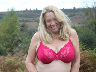 Gorgeous mature wife in the forest