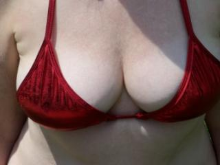 Red bathing suit 16 of 20