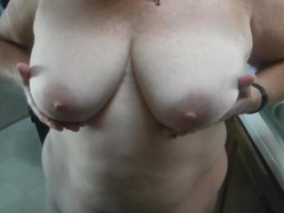 Playing with tits