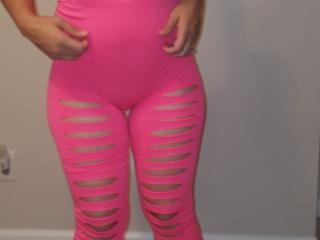 Pink 80s tights heels...