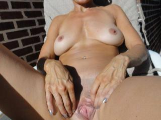 Jade...tanning in the backyard 17 of 20