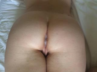 Hairy bbw spreading ass naked