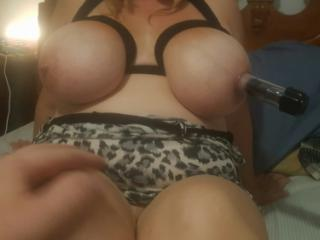 Big boobs lube and nipple suckers 9 of 13