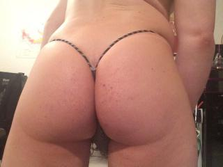Sexy tanned ass and string thongs