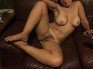 Naked hairy pussy wife