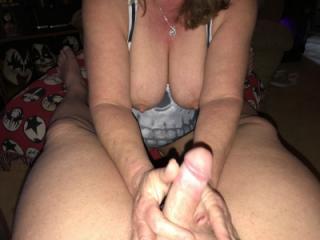 titties handjob and blowjob 5 of 12