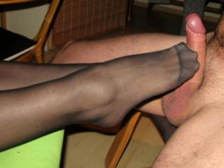 Black Stocking Footjob2
