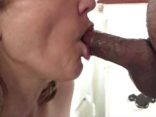 Closeup blowjob