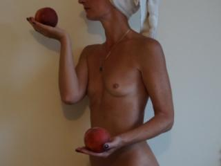 Woman and Peach 4 of 7