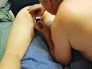 slut wife's pussy getting stuffed