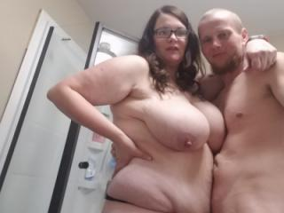 Bbw huge tit wife and I