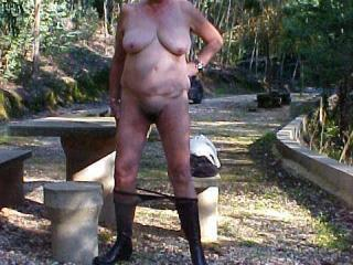 my wife naked outdoors