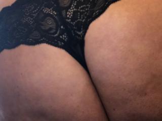 Just panties and bra