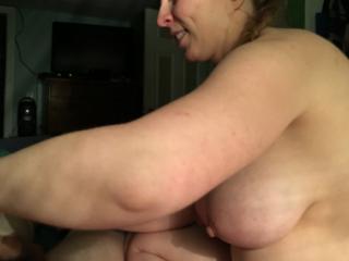 Busty wife handjob
