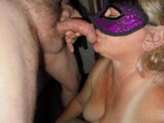 Purple Mask Lady