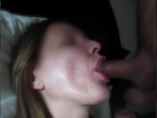 Closeup cum in mouth