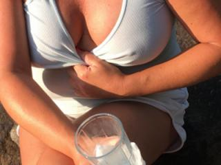 Wife's lucious breasts 3 of 7