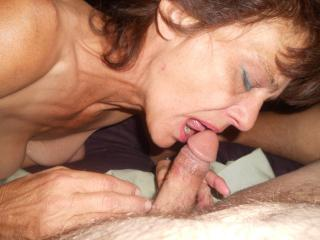 50 Y/O Milf-Giving a Blowjob