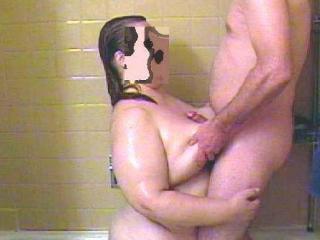 Fat shower sex