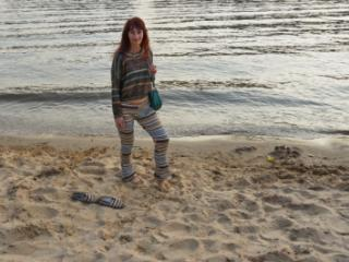 In AKIRA pants near Moscow-river in evening