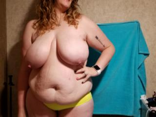 Bbw wife in lingerie and panties 4