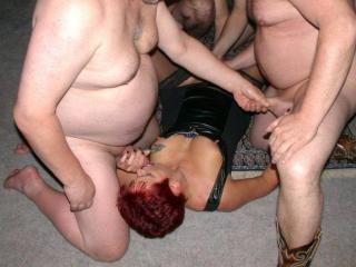 housewife in a gangbang