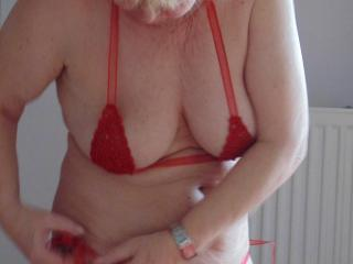 Zorro in red and tits close ups,