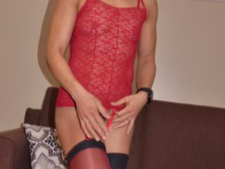 red bustier and stockings 13 of 20