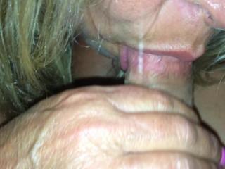 big tits wife sucking