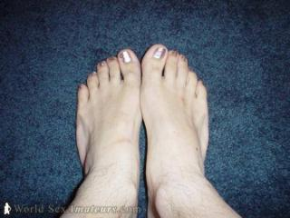 My Feet With Silver Toes !!!!!!!
