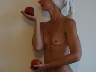 Woman and Peach 5 of 7
