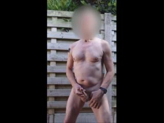 exhibitionist public outdoor jerkoff session with edging cumshot
