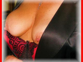 Hotwife To Share in Black & Red and ready to Spread ;  ) 3 of 20