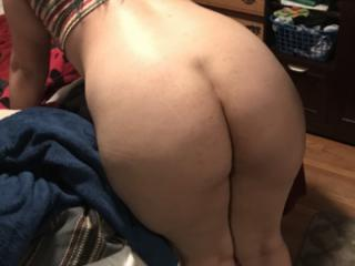 Wife's ass and pussy. One more of hubby.