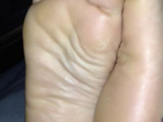 My scrunched up size 3 feet