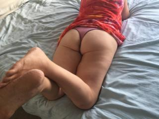 Feet ass and thong