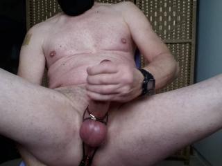 analplay prostatemilking with great slow handsfree cumshot