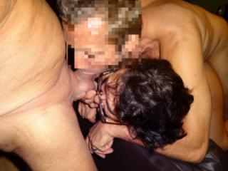 Hot Threesome sucking