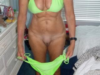 Green String Bikini