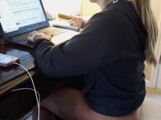This is how I caught her working today!